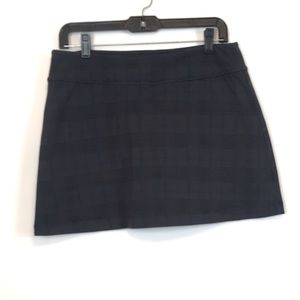 🍁Athleta Charcoal Gray Plaid Checkered M Skort